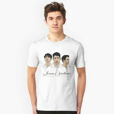NEW The Jonas Brothers T-Shirt World Tour Concert 2019 Tee S-6XL Hot Tee White