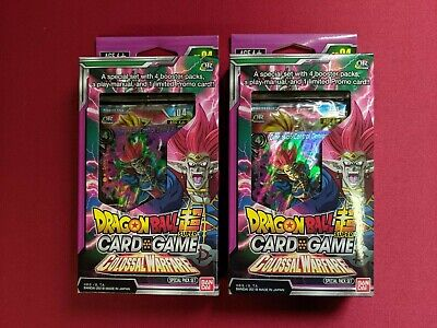 Dragon Ball Super Card Game Colossal Warfare Special Pack Set Box 6x Sets Sealed