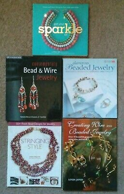 JEWELRY MAKING BOOKS LOT of 5 PRE OWNED 2 HARDCOVER 3 PAPERBACK