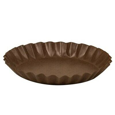 """RUSTY BLACK Candle Pan Tray Fluted 6"""" Dia Primitive Rustic for Pillar Jar Candle"""