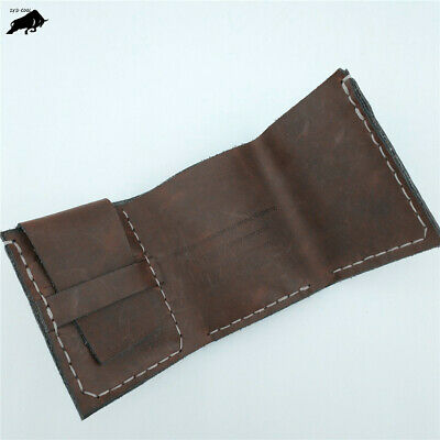 Walter Mitty Vintage Handmade Natural Cowhide Leather Wallet Wallets Purse