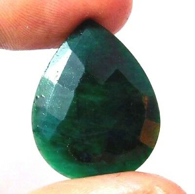 Dyed Faceted Beryl Emerald Gemstone 20 ct 24x19mm AQ699