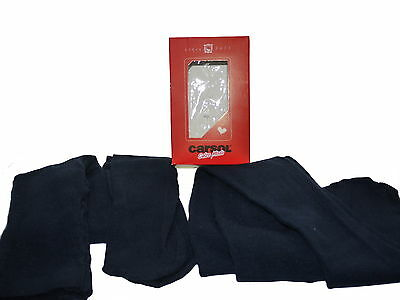 10 Boxed Pairs Italian Girls Navy Blue Super Soft Tights Age 9-10 NIB