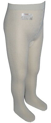 10 Boxed Pairs Italian Girls Cream Ivory Super Soft Tights Age 10 Years NIB