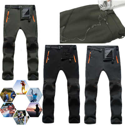 Mens Work Trousers Pockets Cargo Combat Working Pants Thick  Shell Outdoor Pants