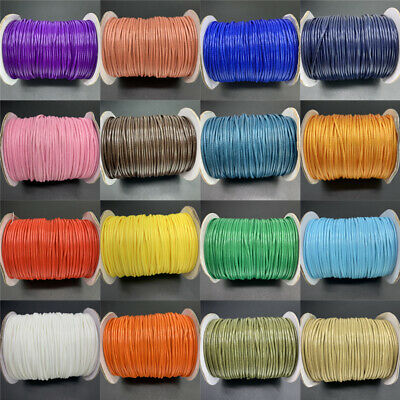 0.5/0.8/1/1.5/2mm Waxed Cotton Cord Thread Cord String Strap Rope Jewelry Making