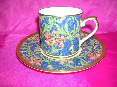 V & A Victoria and Albert Cup and Saucer Iris William Morris Nikko Company
