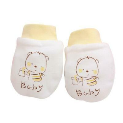 1 Pairs Cute Cartoon Baby Infant Boys Girls Anti Scratch Mittens Soft Gloves YE