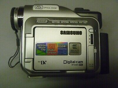 Samsung digital video camera VPD-305i, with remote control, Original bag, tapes.