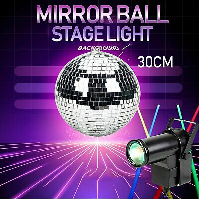 DJ Dance Party Club Stage Lighting With 30cm Mirror Glass Disco Reflective Ball