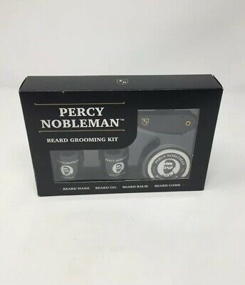 Percy Nobleman Beard Grooming Kit Gift Set - Beard Wash, Oil, Balm & Comb - New
