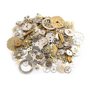 50g Steampunk Watch Parts Hundreds of Pieces Vintage Antique OLD Gears Lot DIY