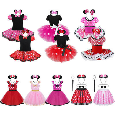 Girls Princess Fancy Dress Kid Toddler Polka Dots Costume Halloween Party Outfit
