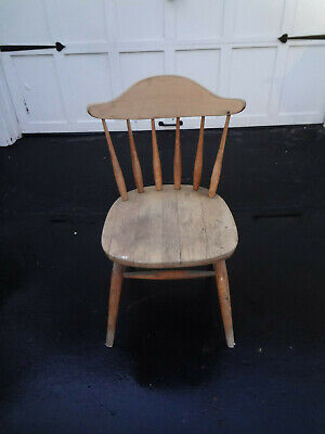 Vtg Antique Ethan Allen Nautical Maple Napoleon Hat Captains Tavern Dining Chair