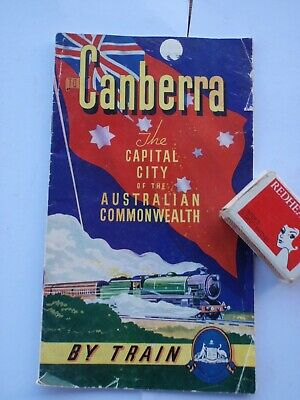 Canberra  A.C.T.  holiday by Train , Brochure 1950's