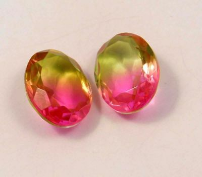 Awesome Treated Faceted Tourmaline pair Loose Gemstones 20 ct RM13555