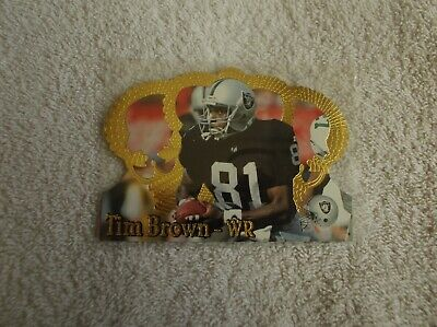 """Pacific / NFL """"TIM BROWN"""" #107 1995 Trading Card"""