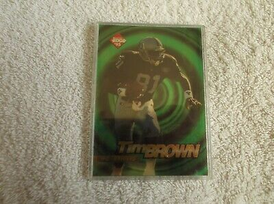 """Collector's Edge  / NFL  """"TIM BROWN""""  - #12 1995 Trading Card"""