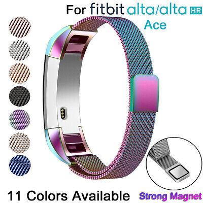 Magnetic Milanese Stainless Steel Replacement Band Strap For Fitbit Alta HR ACE