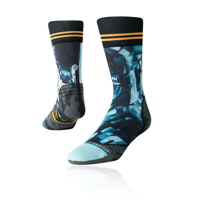 Stance Mens Kagan Moon Man Crew Socks - Black Blue Sports Outdoors Breathable
