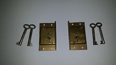 Brass Cabinet Locks - A Lewis & Sons New Old Stock