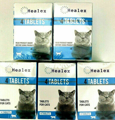 **2 BOXES** Healex Cat Dewormer 4 Tablets exp-10/2022