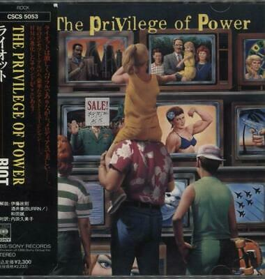 Riot The Privilege Of Power CD album (CDLP) Japanese promo CSCS5053 CBS/SONY