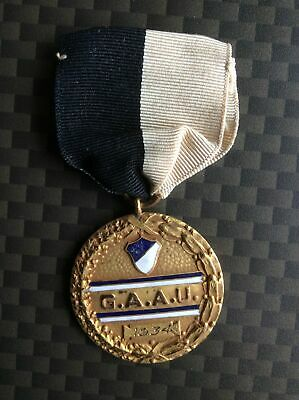 Very Rare! 1934 German American Athletic Union Medal with Ribbon *Bund Related?