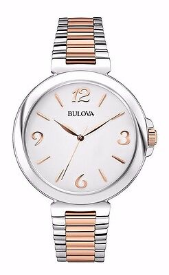 Bulova Women's 98L195 Quartz Two-Tone White Dial Stainless Steel 38mm Bracelet