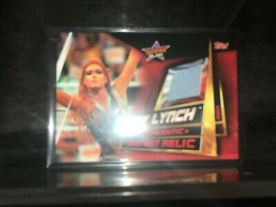 Topps WWE Slam Attax Universe Ring Mat Relic Card  Becky Lynch rmca
