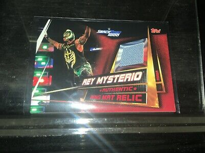 Topps WWE Slam Attax Universe Ring Mat Relic Card Rey Mysterio rmba