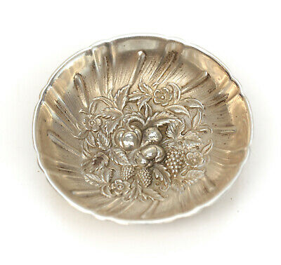 S. Kirk & Son Sterling Silver Footed Nut Dish in Repousse #43