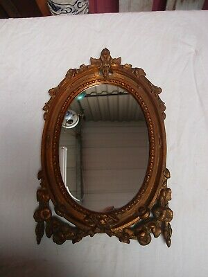 Antique Victorian Cast Iron Framed Mirror
