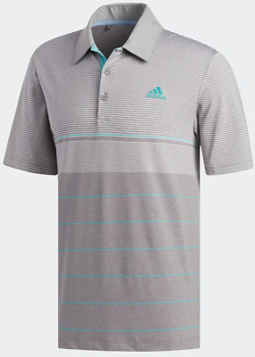 Adidas Ultimate 365 Heathered Gradient Stripe Polo - Choose Size and Color