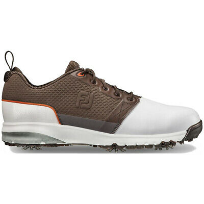 Footjoy Contourfit Golf Shoes White/Brown - Choose Size & Width