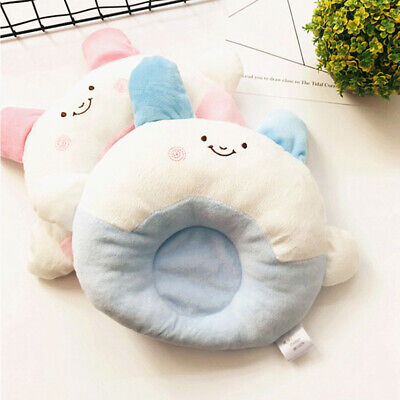 Anti Roll Soft Newborn Baby Infant Cotton Pillow Positioner Prevent Flat Head 6A