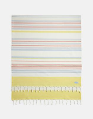 Joules Beach Blanket ONE in CREAM ORANGE STRIPE in One Size