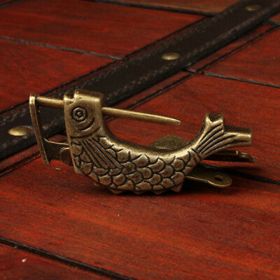 Chinese Old Wooden Box Lock Antique Bronze Jewelry Box Lock Home Decor ON SALE