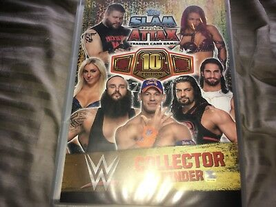 WWE Slam Attax 10th Edition Complete set 100% in folder 361/361 + bonus LE