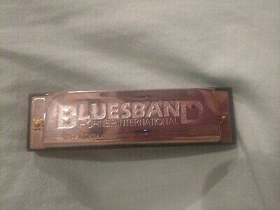 Bluesband Hohner International Harmonica Key C With Box and Instructions GUC
