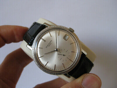 Patek Philippe 18K White Gold Calatrava Automatic Date Watch Ref 3445G Serviced