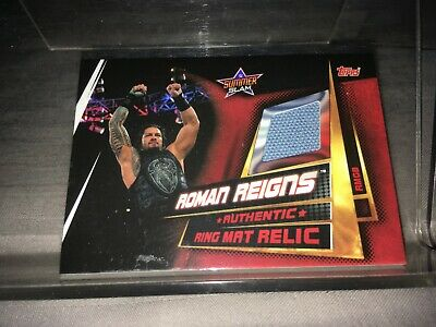 Topps WWE Slam Attax Universe Ring Mat Relic Card Roman Reigns rmgb