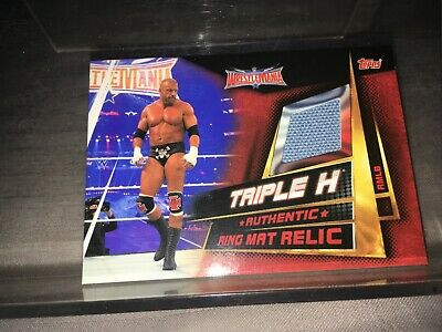Topps WWE Slam Attax Universe Ring Mat Relic Card Triple H rmlb