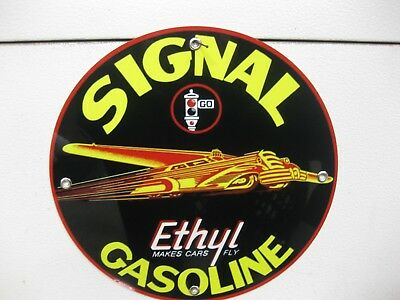 Sunray Gasoline Round Steel Sign Vintage Garage Decor 14