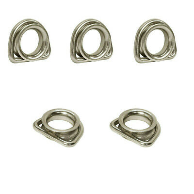 5Pc Stainless Steel Marine Boat 5/16'' D-Ring Thimble Round Shave Wire Rope