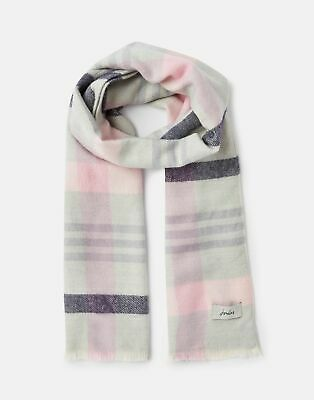 Joules 207392 Woven Checked Scarf in BIRCHAM BLOOM CHECK in One Size
