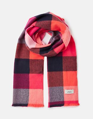 Joules 207392 Woven Checked Scarf in BRIGHT GINGHAM in One Size