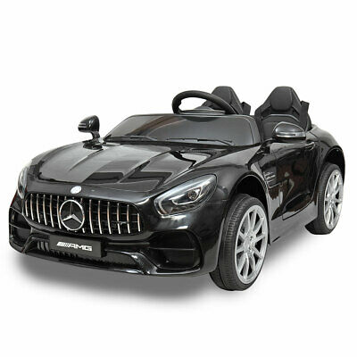 Mercedes Benz 12V Electric Kids Ride On Toy Cars w/ Remote Control MP3 LED Black