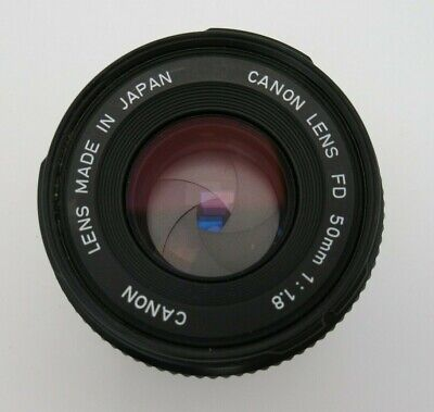 Canon FD Lens f1,8 50 mm made in Japan FD  7659835 yq114