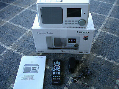 LENCO DIR-100WH - Internet Radio - Remote Control - Colour Display